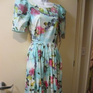 Cotton Tie Dyed DRESS, SZ 3/4,  Vintage